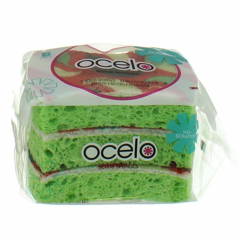 Ocelo Heavy Duty Gumball Design Scrubber Sponges