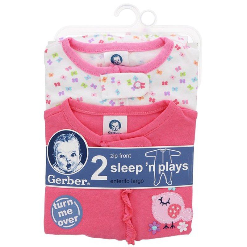 Gerber 3 To 6 Months Little Bird Design Sleep & Play Baby Wear