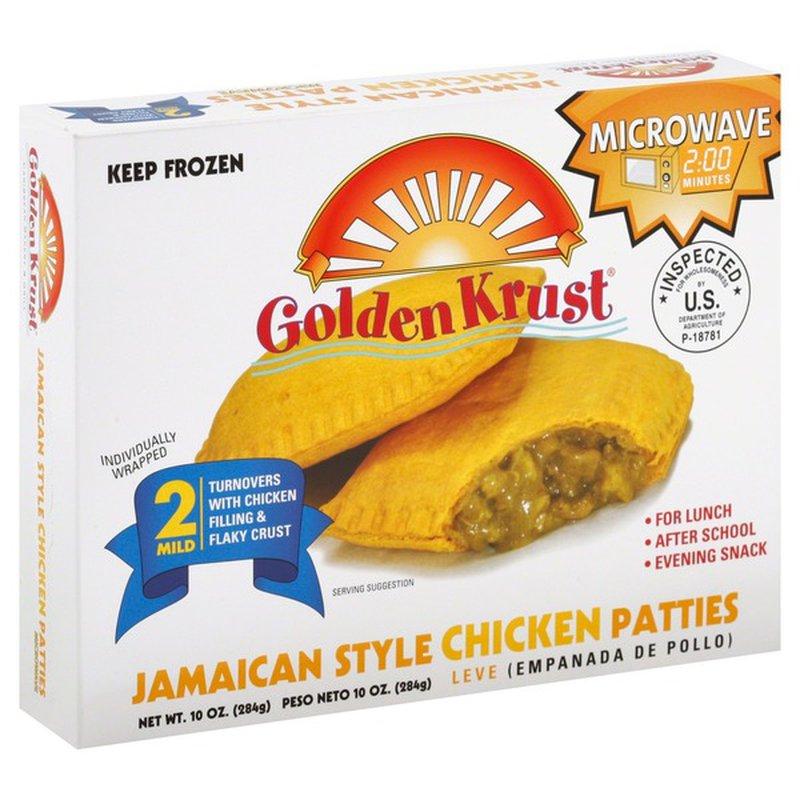 golden krust chicken patties jamaican style mild 2 each