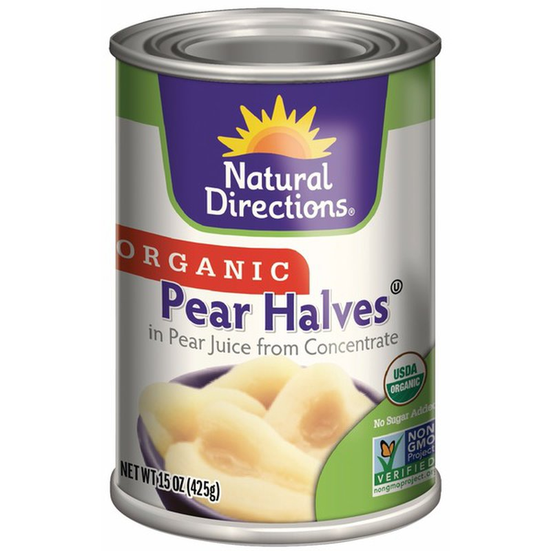Natural Directions Organic Pear Halves in Pear Juice