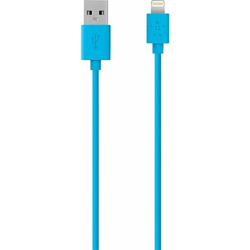 Belkin MIX IT Lightning Sync/Charge cable - iPad / iPhone / iPod charging / data cable - Blue - 4 ft - M 4 pin USB Type A to M Apple Lightning