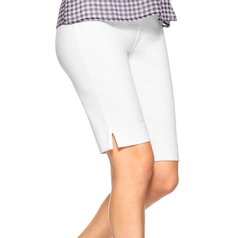 No Nonsense White Women's Medium Knee-Length Soft Twill Boyfriend Shorts
