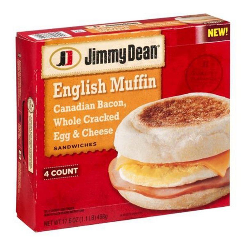 Jimmy Dean Canadian Bacon Egg Cheese Muffin