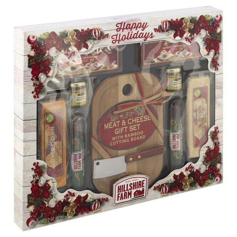 Hillshire Farm Gift Set Meat Cheese With Bamboo Cutting Board 21 2 Oz Instacart