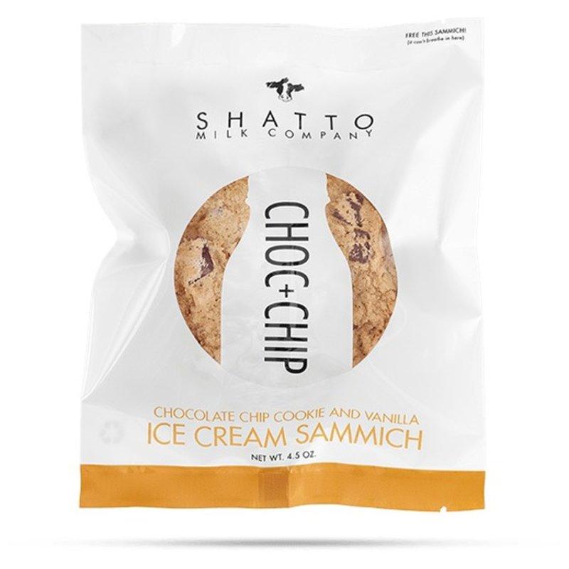 Shatto Milk Company Sammich Chocolate Chip Vanilla Ice Cream