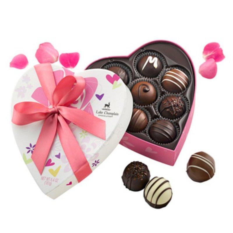 Lake Champlain Chocolates Traditional Heart Truffles