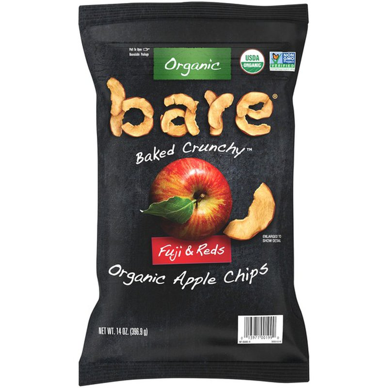 Bare Organic Backed Crunchy Fuji Apple Chips, 14 oz