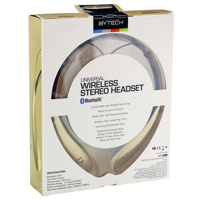 Bytech Gold Sport Wireless Bluetooth Earbud Neckband Headphones