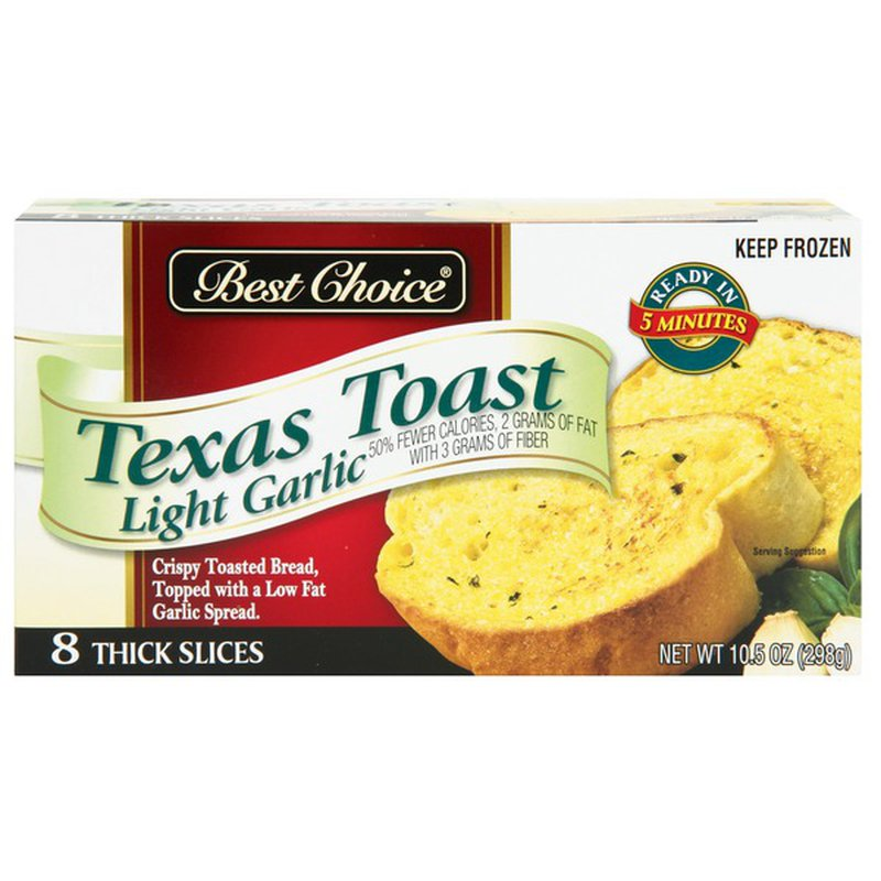 Best Choice Texas Toast Light Garlic Bread