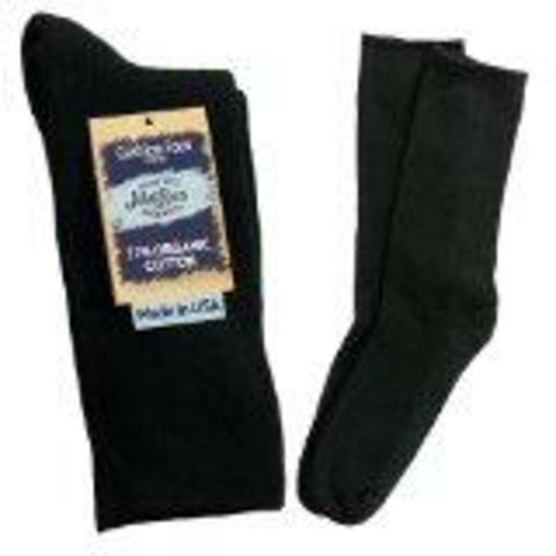 Maggie's Large Black Solid Crew Socks