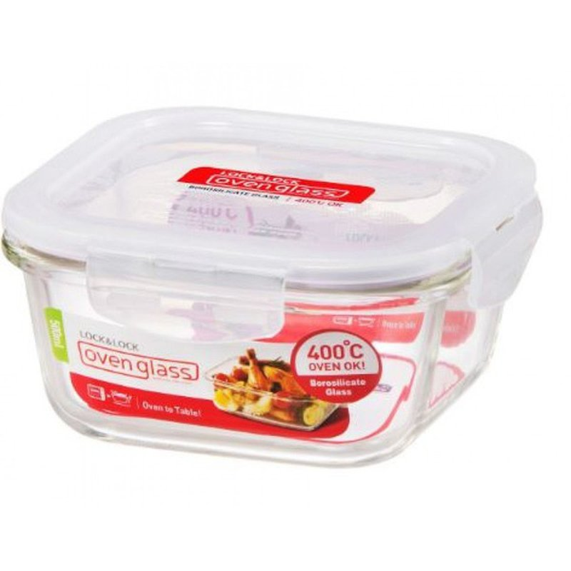 Lock & Lock Square Glass Containers