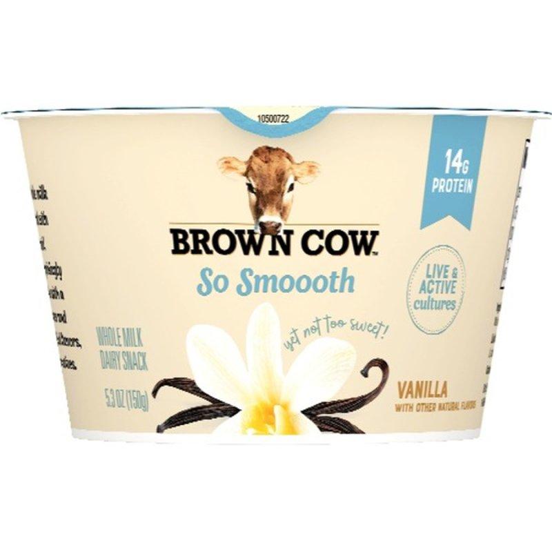 Brown Cow Vanilla So Smooth Dairy Snack (5.3 oz) - Instacart