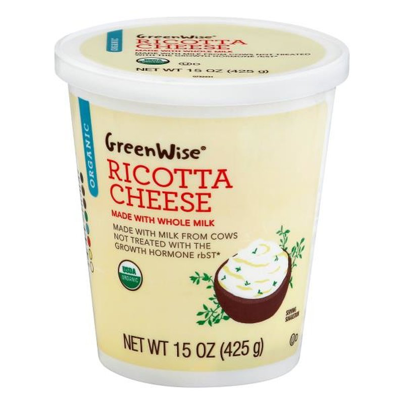 GreenWise Cheese, Organic, Ricotta (15 oz) from Publix ...