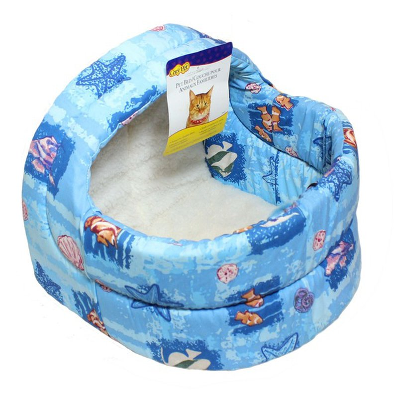 """Dallas Manufacturing Company 15"""" Assorted Colors Hooded Cat Bed"""