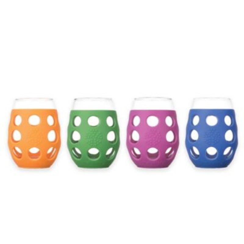 Lifefactory Small Wine Glass Multi 4 Pk