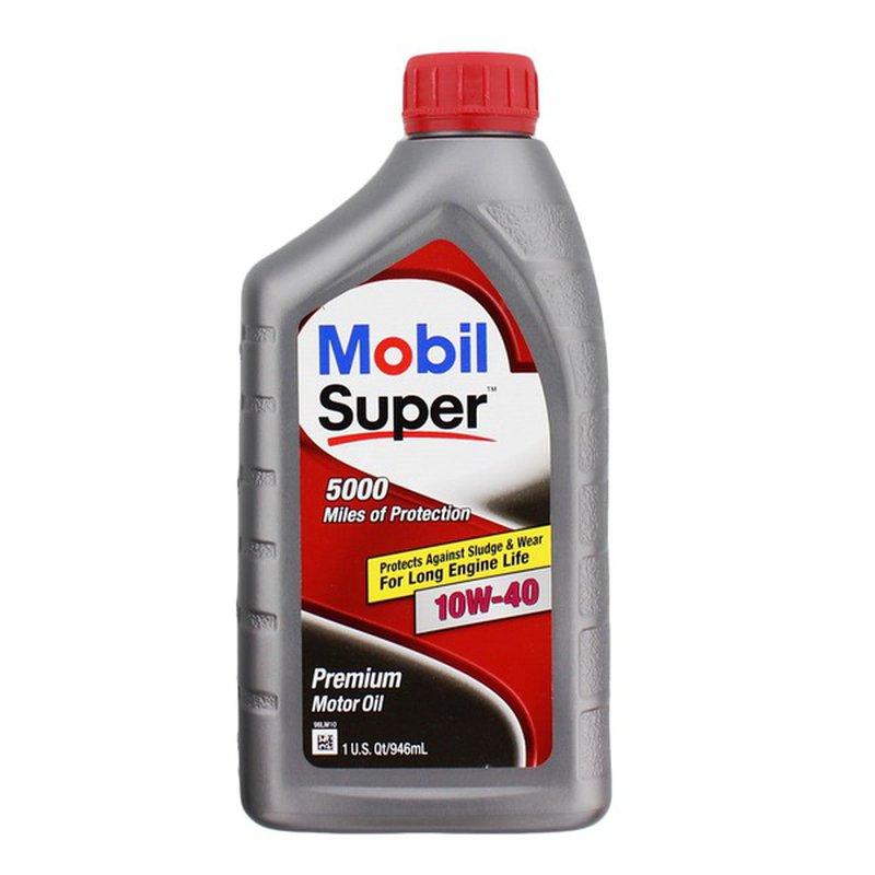 Mobil Super 10W-40 High Mileage Motor Oil