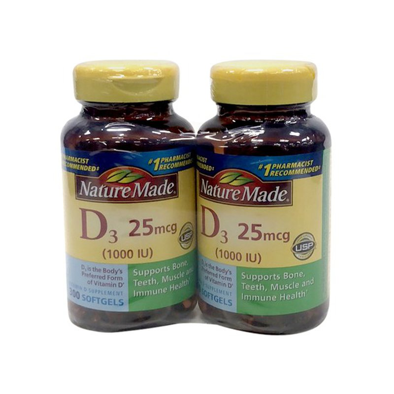 Nature Made Vitamin D3 1000 Iu 25 Mcg 600 Ct Instacart