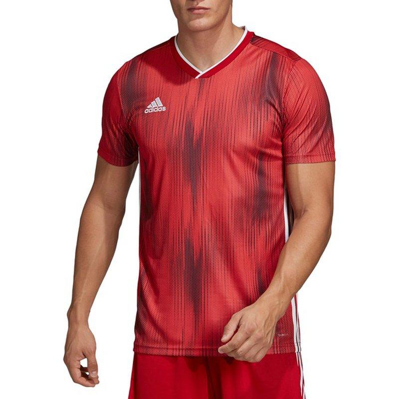 adidas Men's Tiro 19 Soccer Jersey - XL - Power Red/White (XL ...