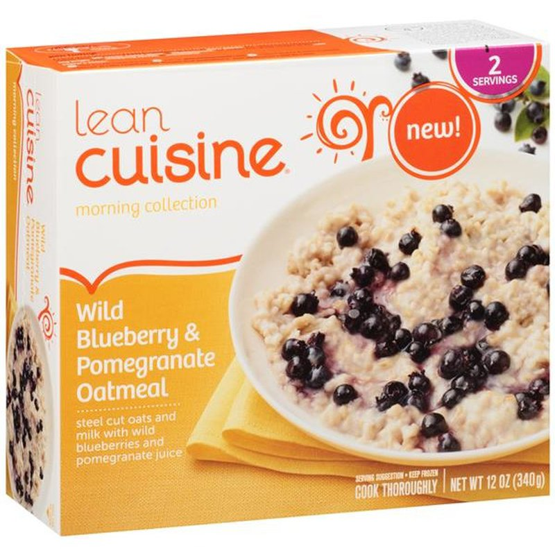 Lean Cuisine Morning Collection Wild Blueberry & Pomegranate Oatmeal steel cut oats and milk with wild blueberries and pomegranate juice