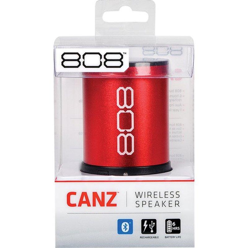 808 Audio Canz Red Wireless Bluetooth Speaker