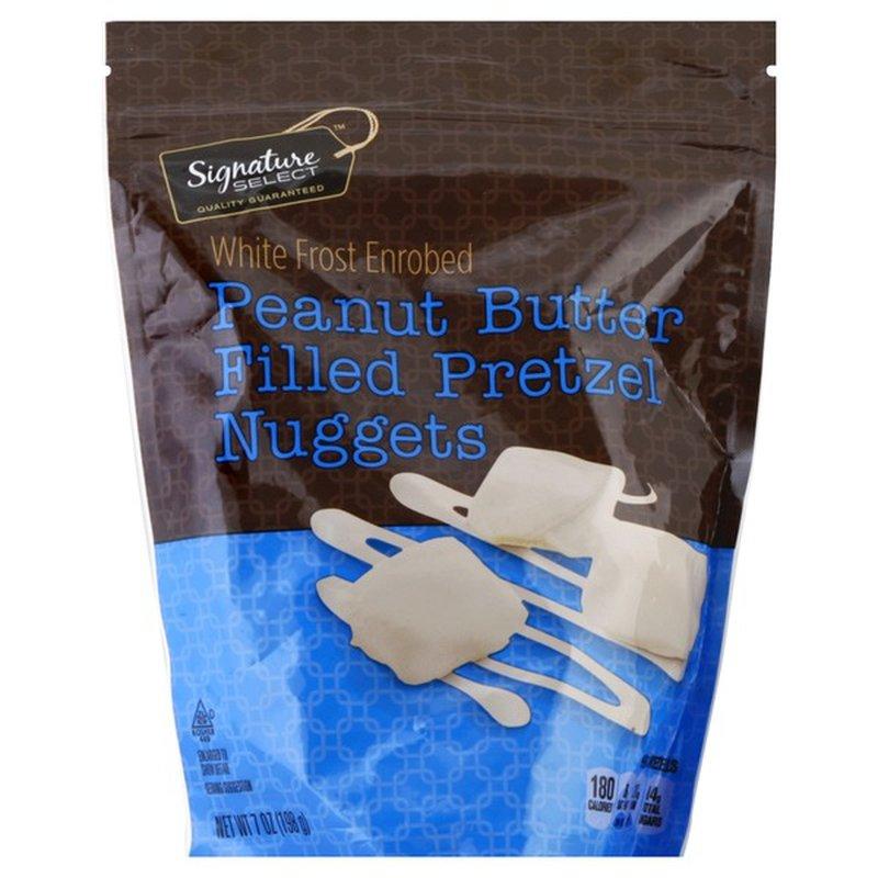 Signature Select Peanut Butter Filled White Coated Pretzel