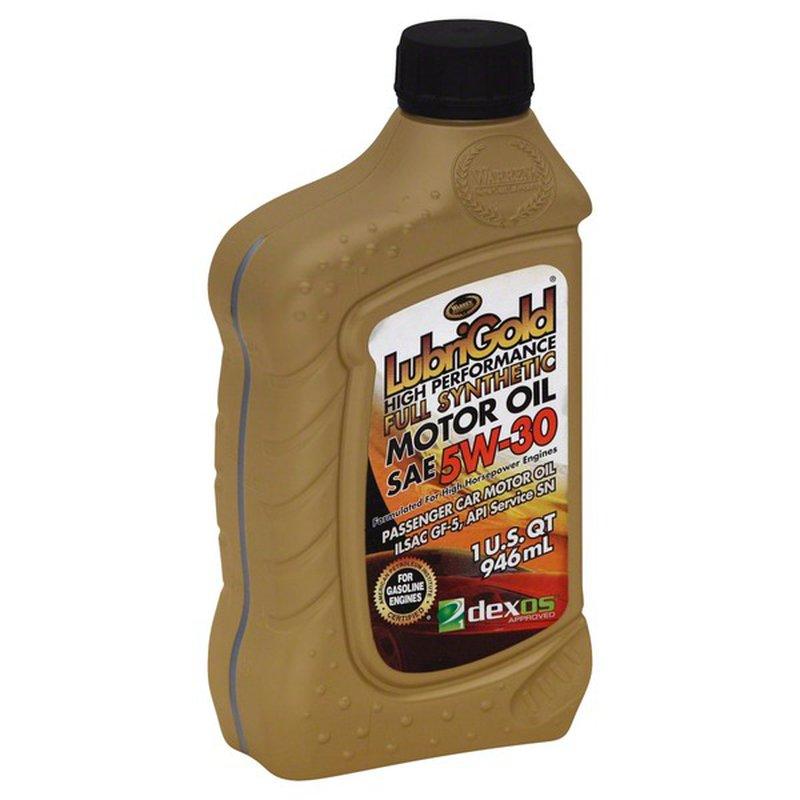 Lubrigold 5W 30 Full Synthethic Motor Oil