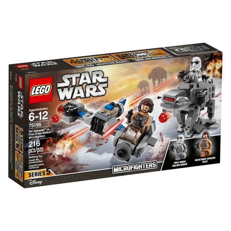 LEGO 216 Piece Star Wars Ski Speeder vs. First Order Walker Microfighters Set