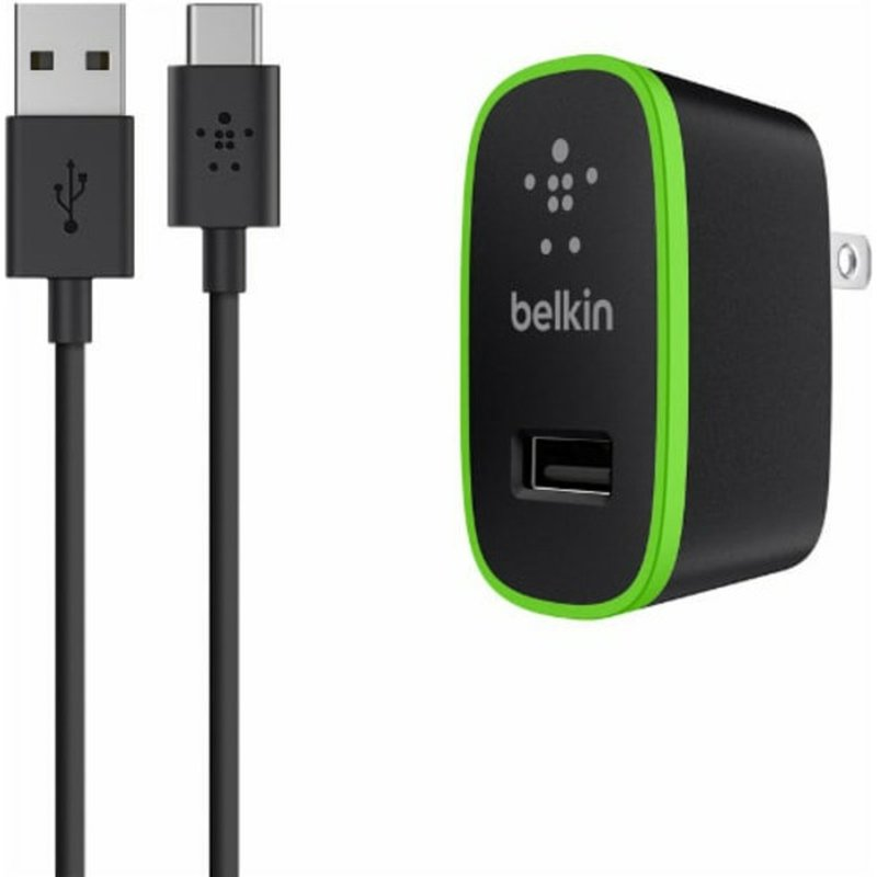 Belkin Black USB-C to USB-A Cable with Universal Home Charger