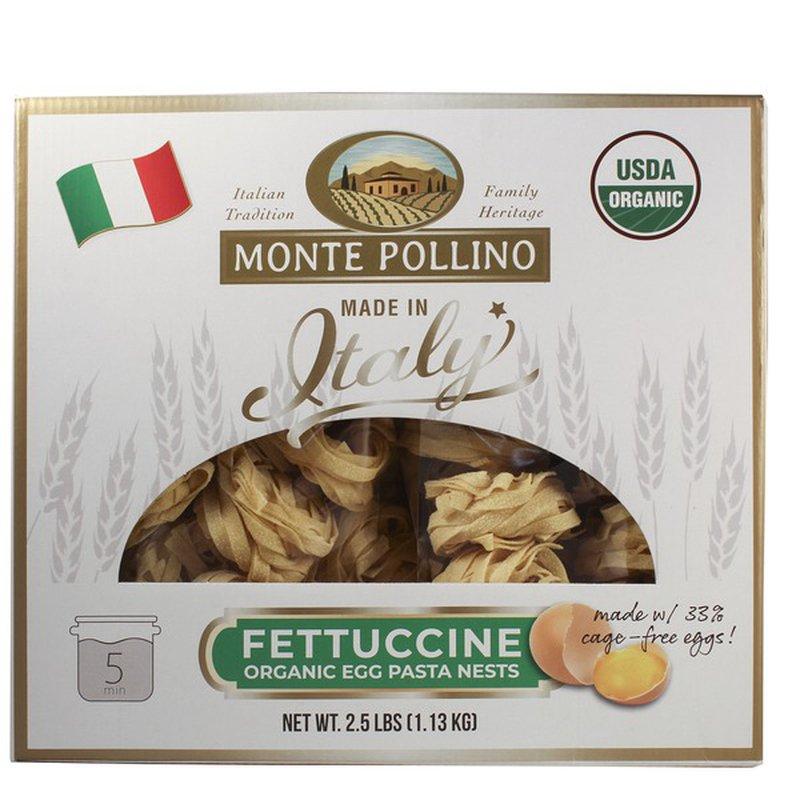 Monte Pollino Organic Fettuccine Egg Pasta Nests