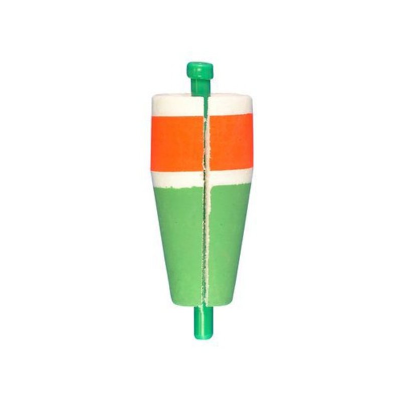 """Comal Tackle Red & Green 2"""" Slotted & Weighted Popping Float"""