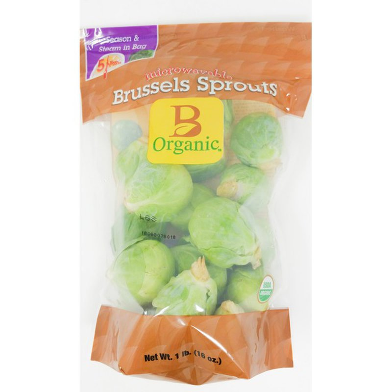 B-Organic Organic Microwave Brussel Sprouts