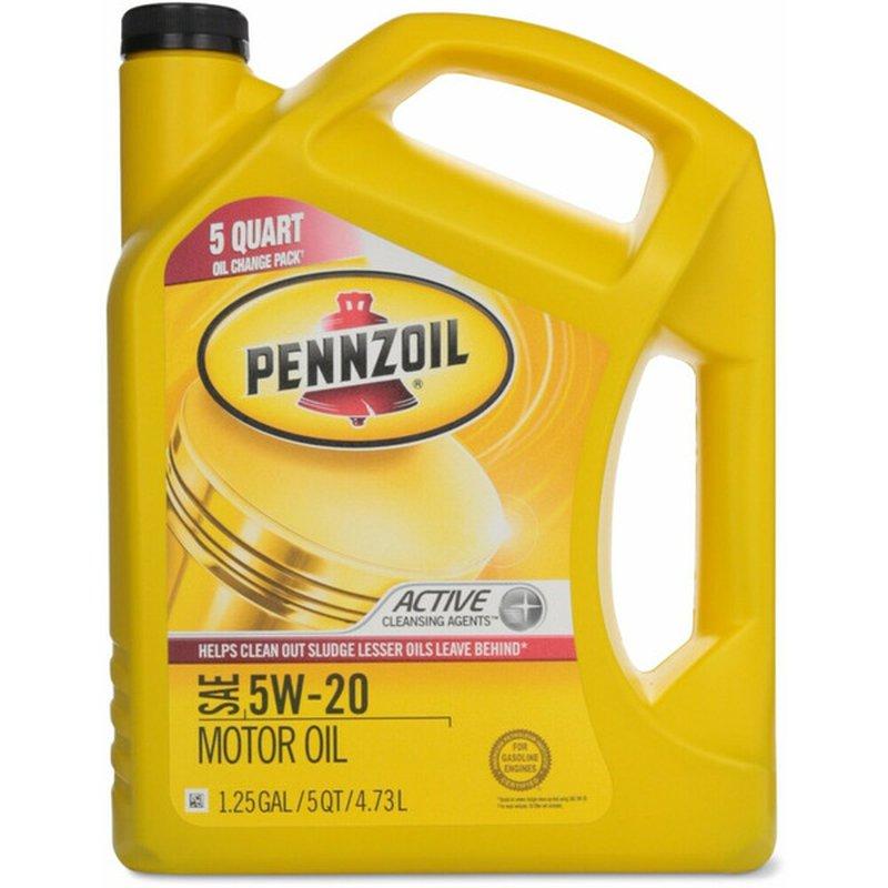 Pennzoil 5W 20 SAE Motor Oil