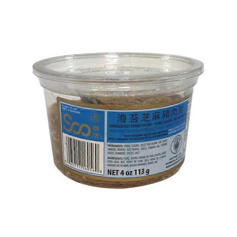 Soo Jerky Sesame Seaweed Dried Pork