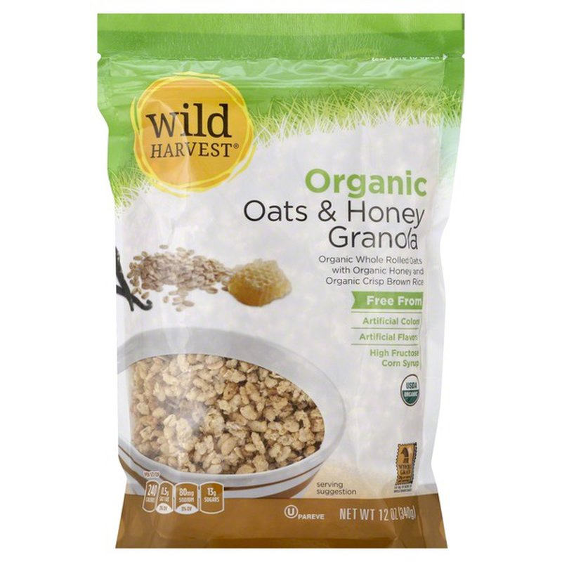 Wild Harvest Granola, Organic, Oats & Honey
