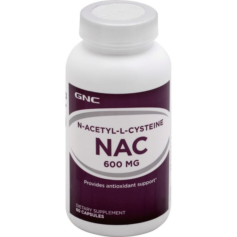 Gnc Nac 600 Mg Capsules 60 Each Instacart