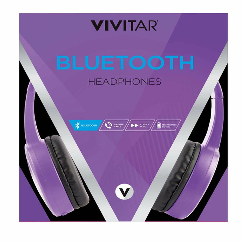 Vivitar Purple Chrome & Brights Bluetooth Headphones