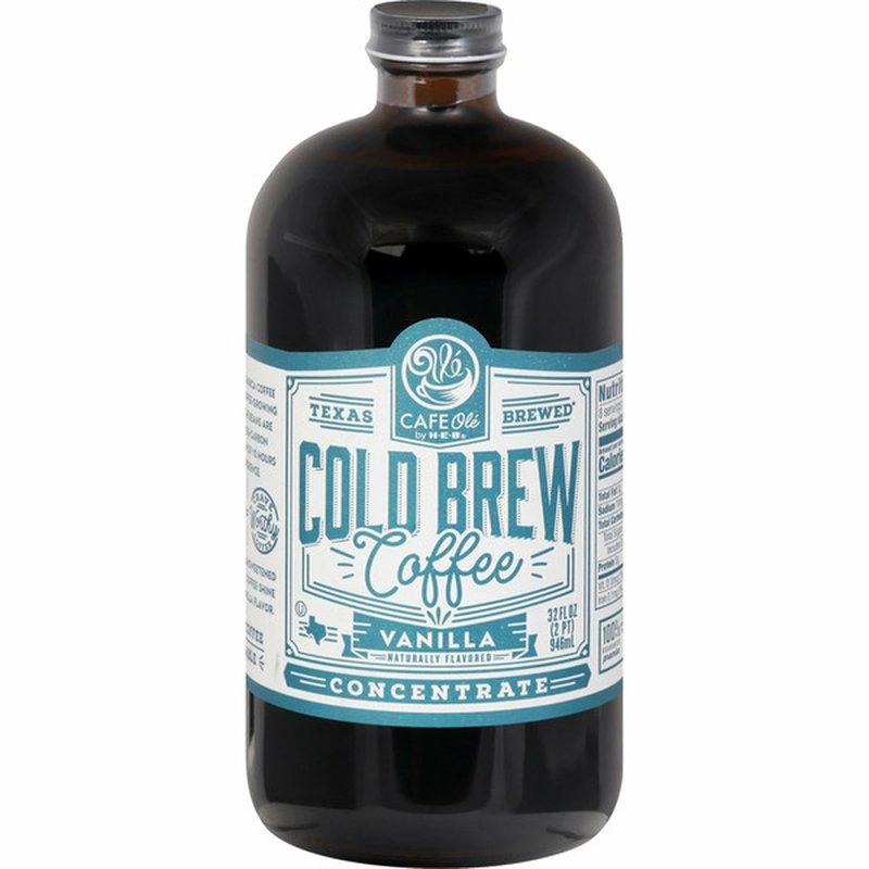 H-E-B Cafe Ole Vanilla Cold Brew Coffee Concentrate