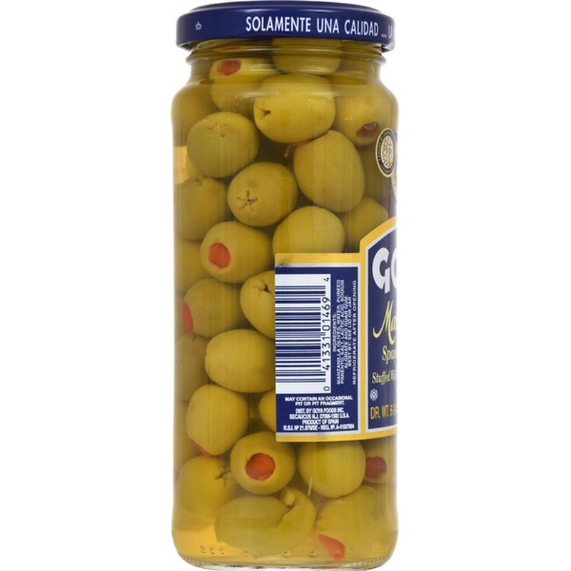 Goya Manzanilla Spanish Olives Stuffed with Minced Pimientos