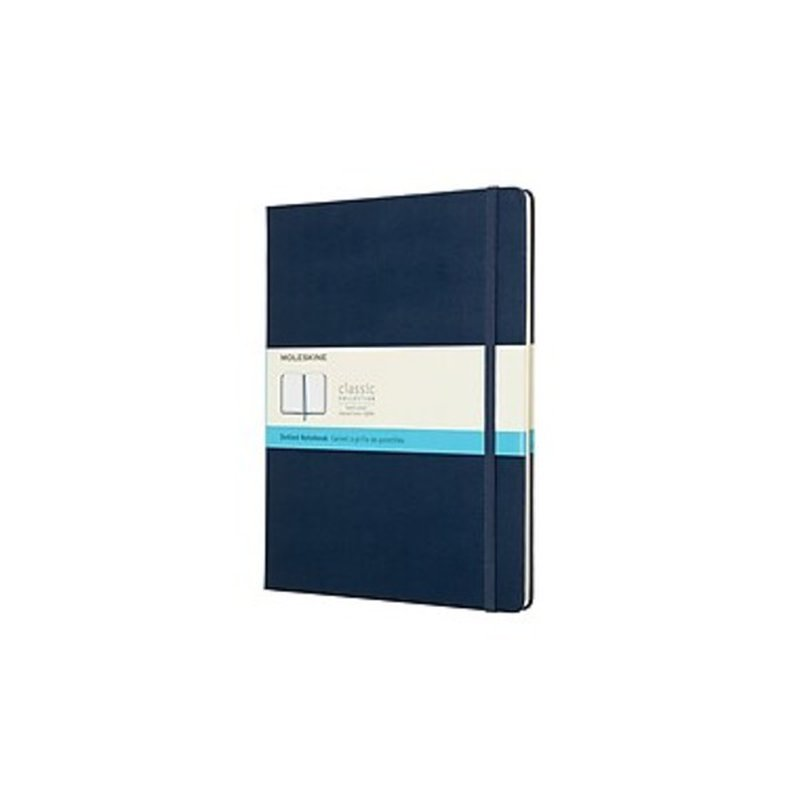 Moleskine 715451 Extra Large Sapphire Blue Grid Dotted Hard Cover Notebook