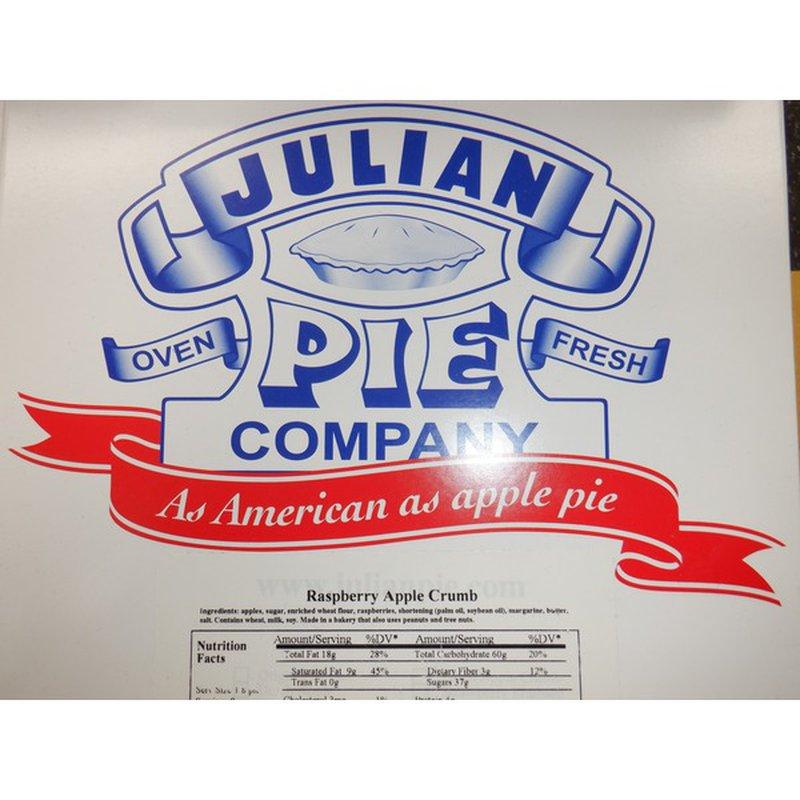 Julian's Recipe Julian Rspbry Aple Crumb Pie