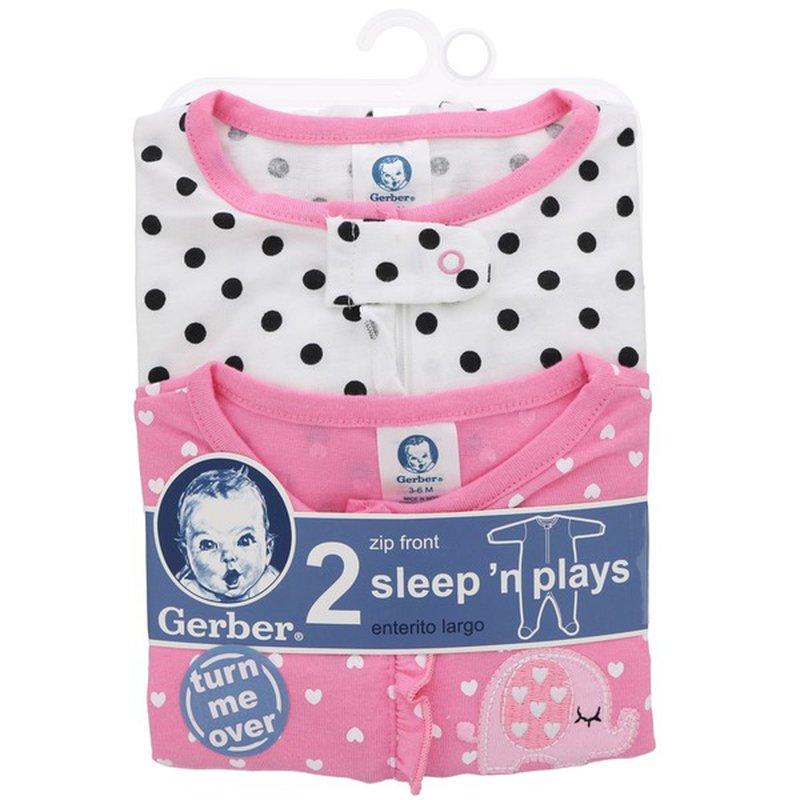 Gerber 3 To 6 Months Elephant Design Sleep N Play Baby Wear