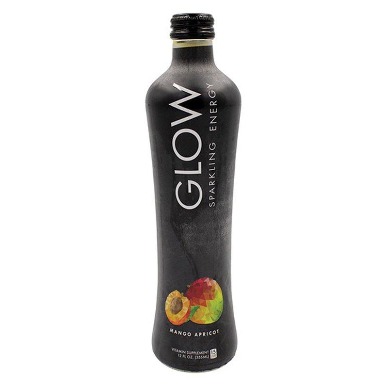 Glow Beverages Apricot Mango Premium Sparkling Energy Drink