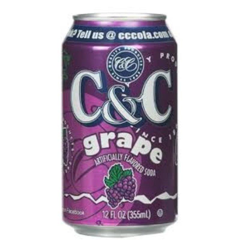 C & C Canned Grape Soda