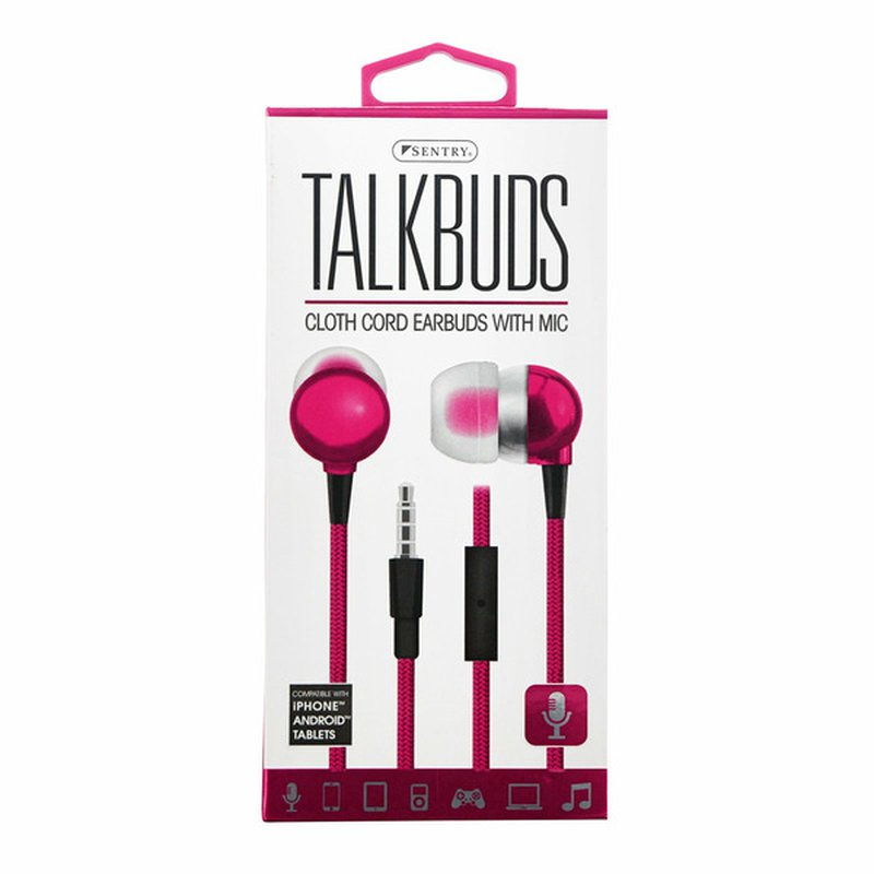 Sentry Pro Pink Talkbuds Earbuds With Mic