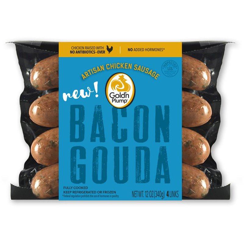 Gold'n Plump Bacon Gouda Chicken Sausage