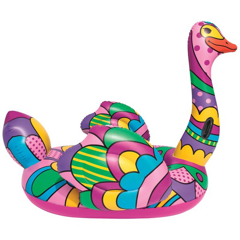"""Bestway 75"""" Pop Ostrich Inflatable Summer Party Pool & Lake Ride On Float"""