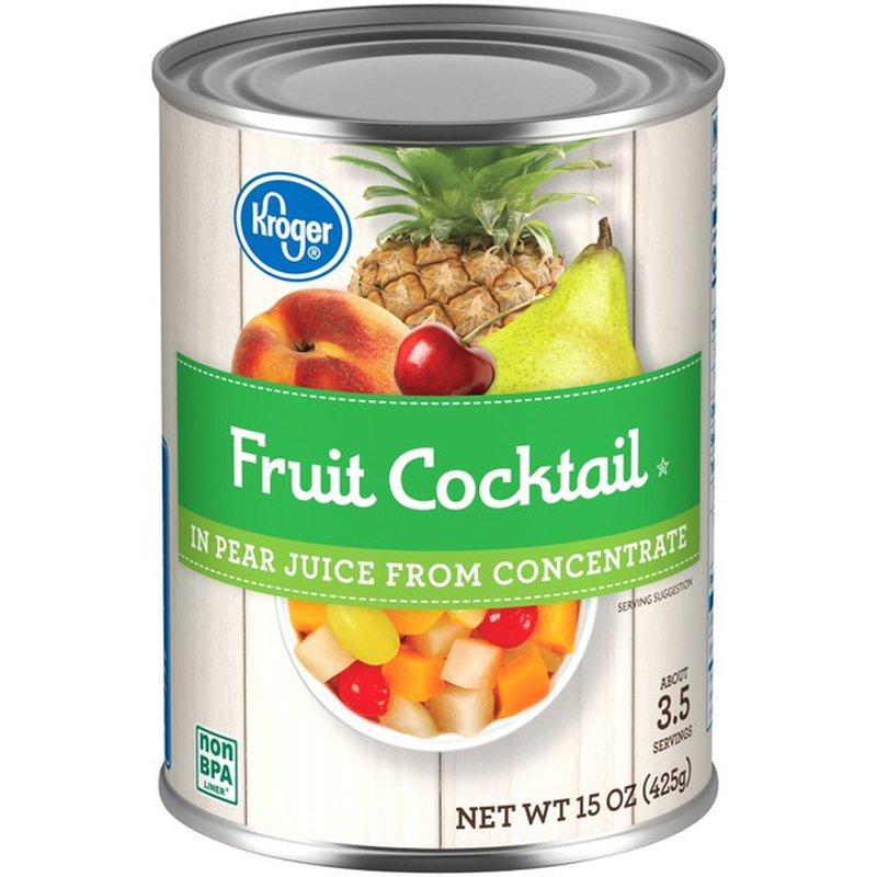Kroger Fruit Cocktail in Fruit Juice