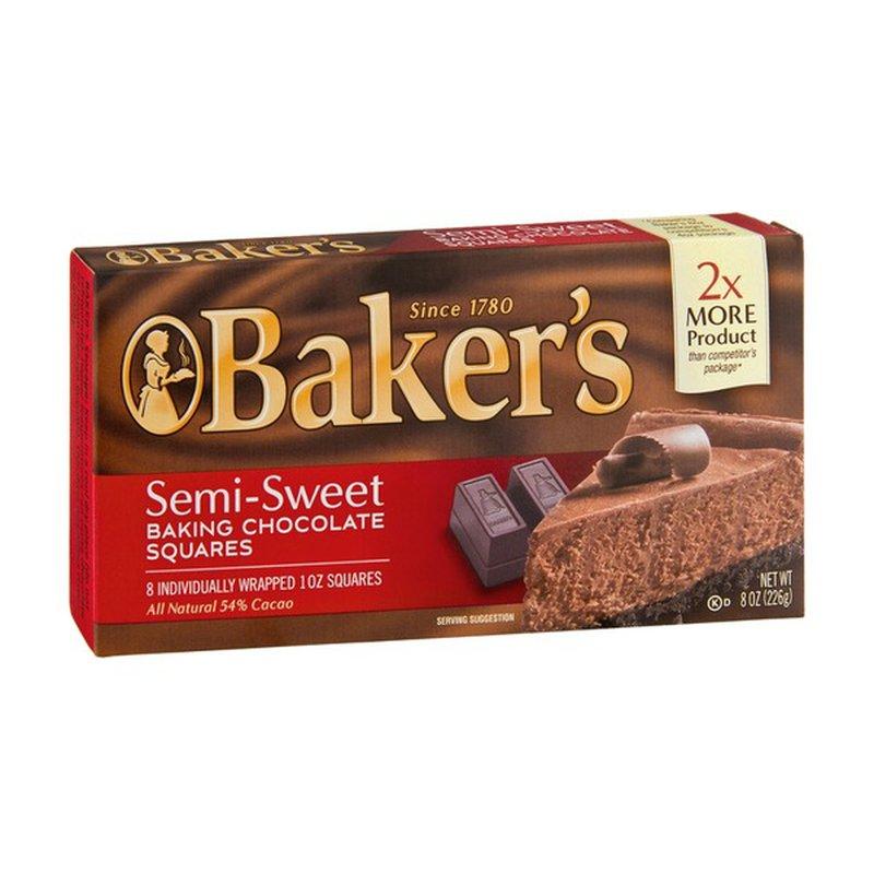Baker S Semi Sweet Baking Chocolate Squares 8 Oz Instacart