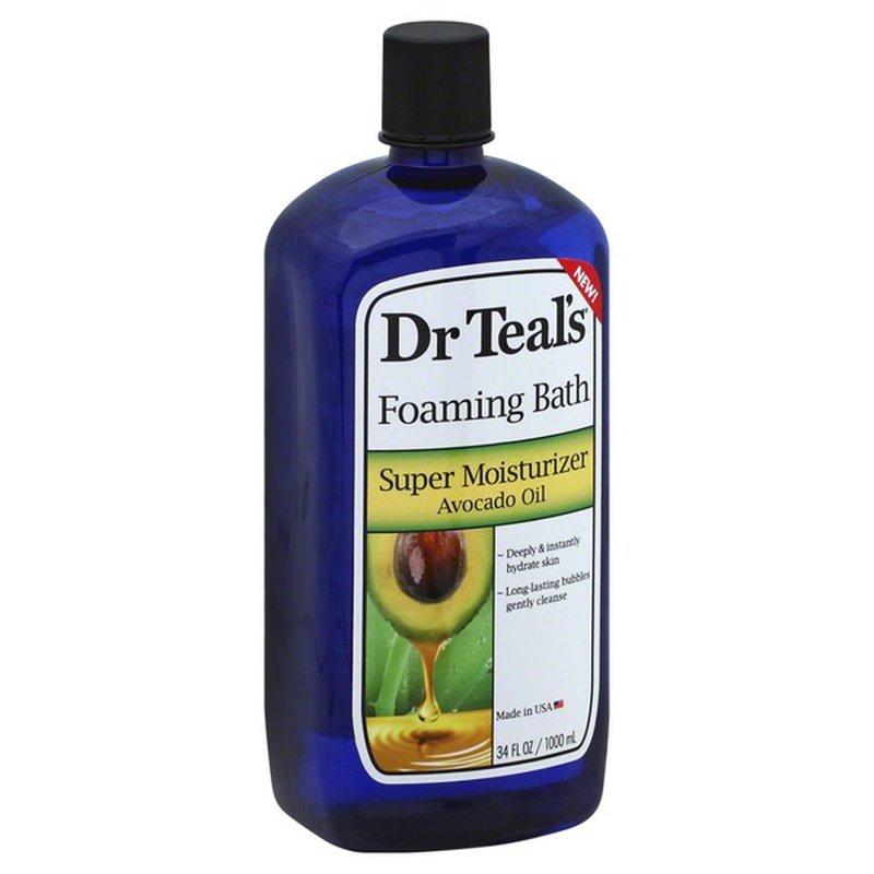 Dr. Teal's Foaming Bath, Super Moisturizer Avocado Oil (34 ...