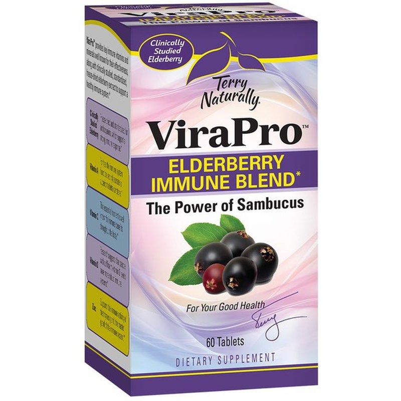 Terry Naturally Virapro ELDERBERRY IMMUNE BLEND DIETARY SUPPLEMENT Tablets